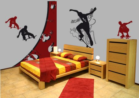 stickers pour les chambre d ado d co line. Black Bedroom Furniture Sets. Home Design Ideas